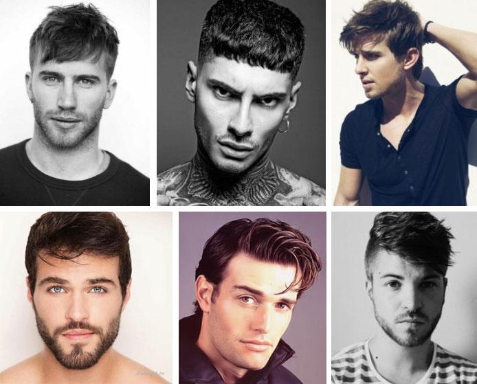 Прически мужские от типа лица фото