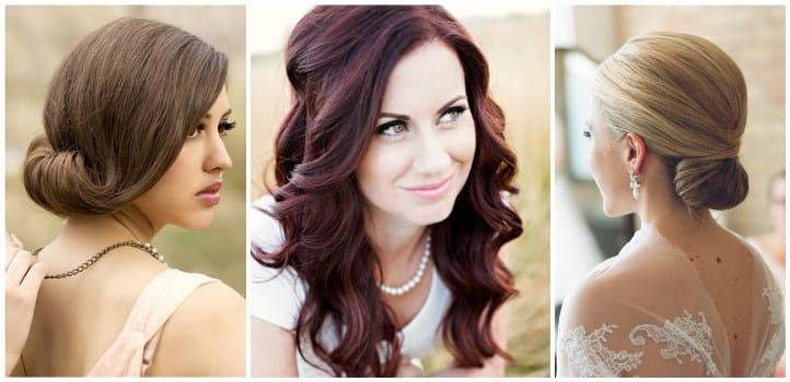 Красивые и простые прически на средние волосы для свадьбы
