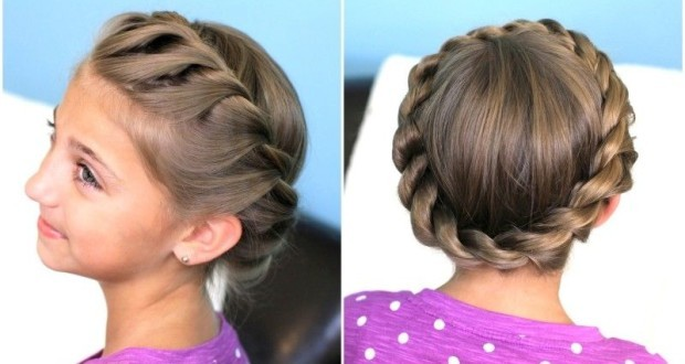 Причёска для девочки легкие 1
