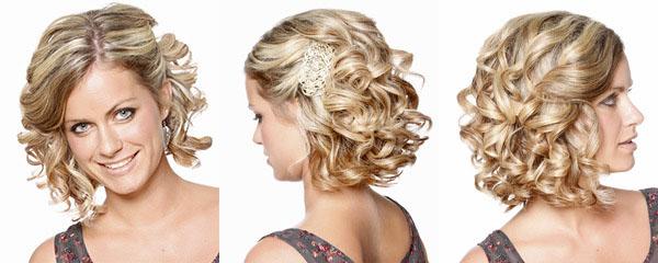 причёски на волосы до плеч фото на свадьбу