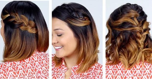 Прически на волосы до плеч своими руками, фото, видео